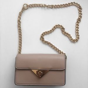 Handbags - Baby Light Pinky Gold Chain Shoulder Purse Bag